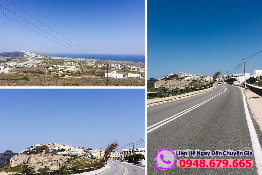 Đường trên đảo Santorini - Hy Lạp