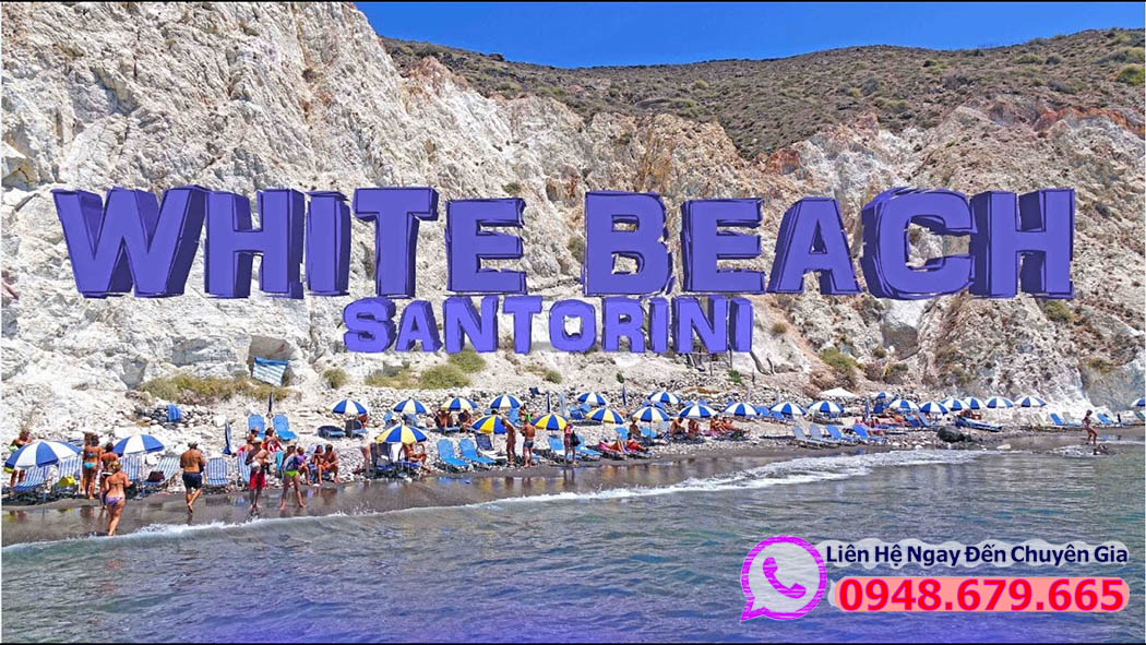 Bãi biển trắng White beach Santorini