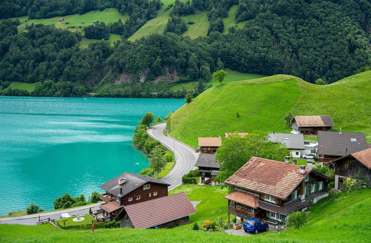 Cảnh đồng quê ở Thụy Sỹ
