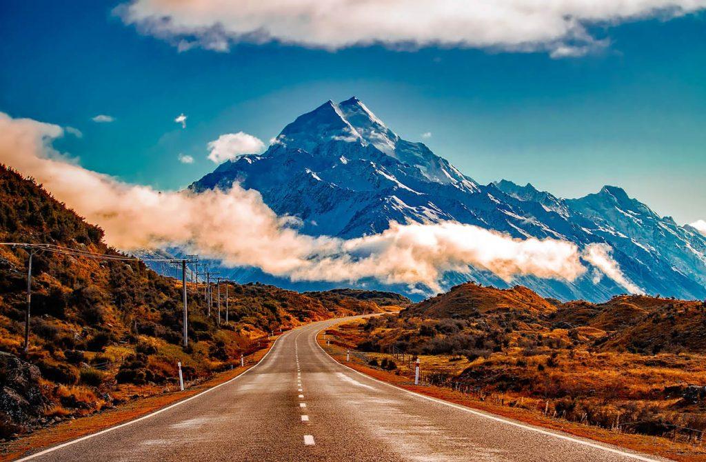 Dãy núi tím ở New Zealand