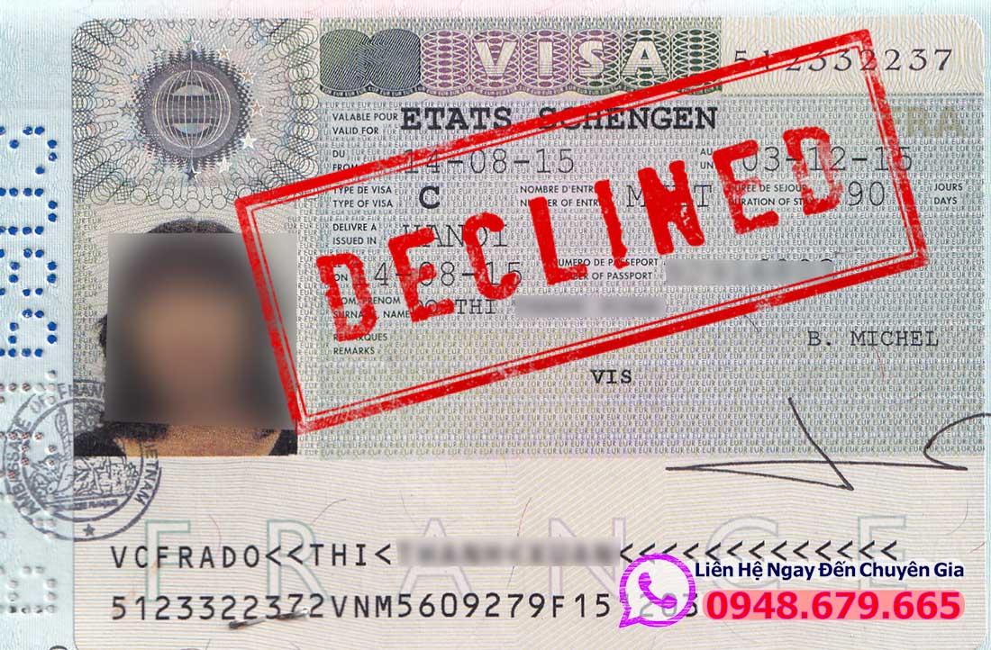 Bị từ chối Visa Pháp