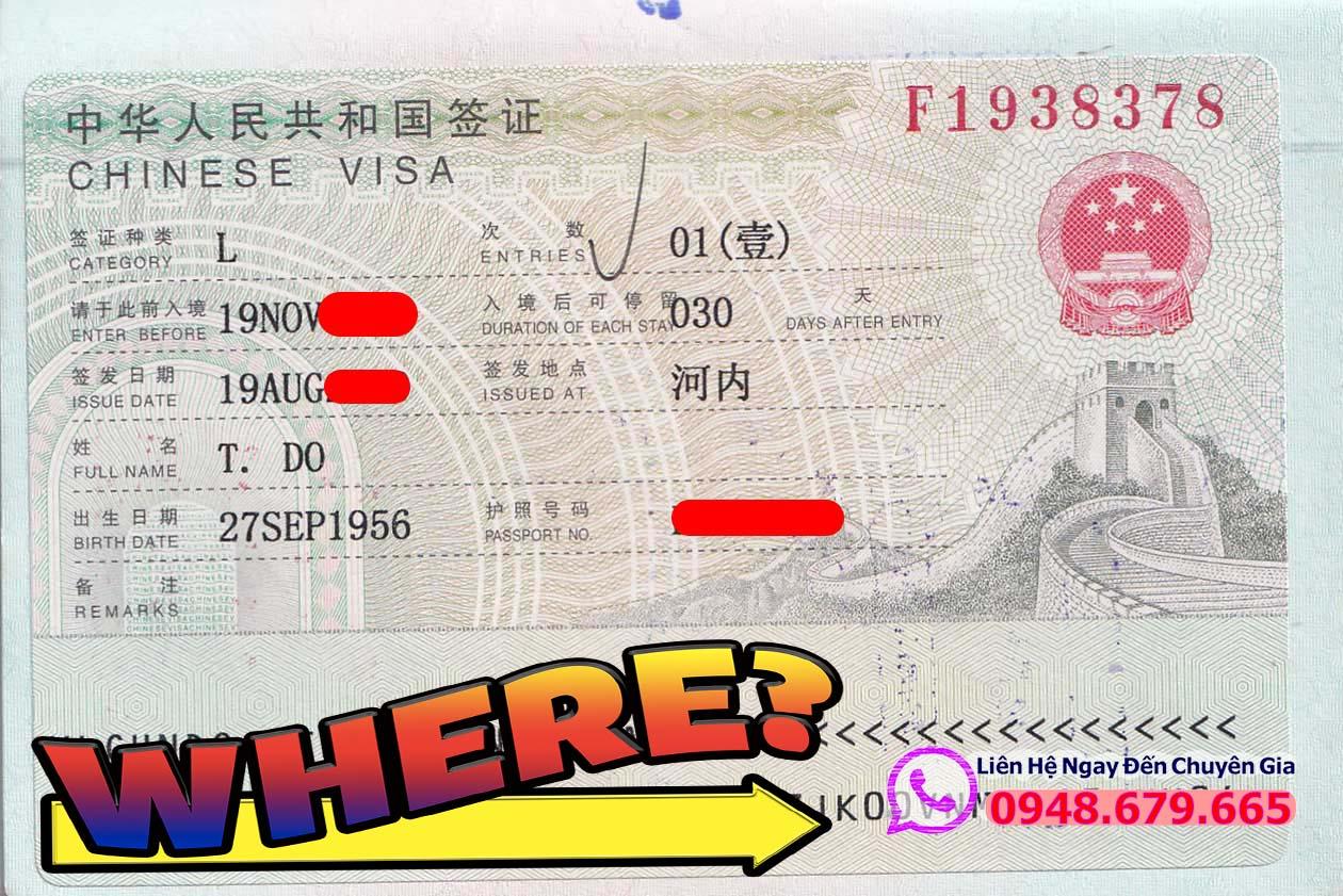Làm Visa Trung Quốc ở Đâu