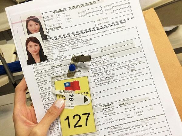 Hồ sơ Visa Đài Loan