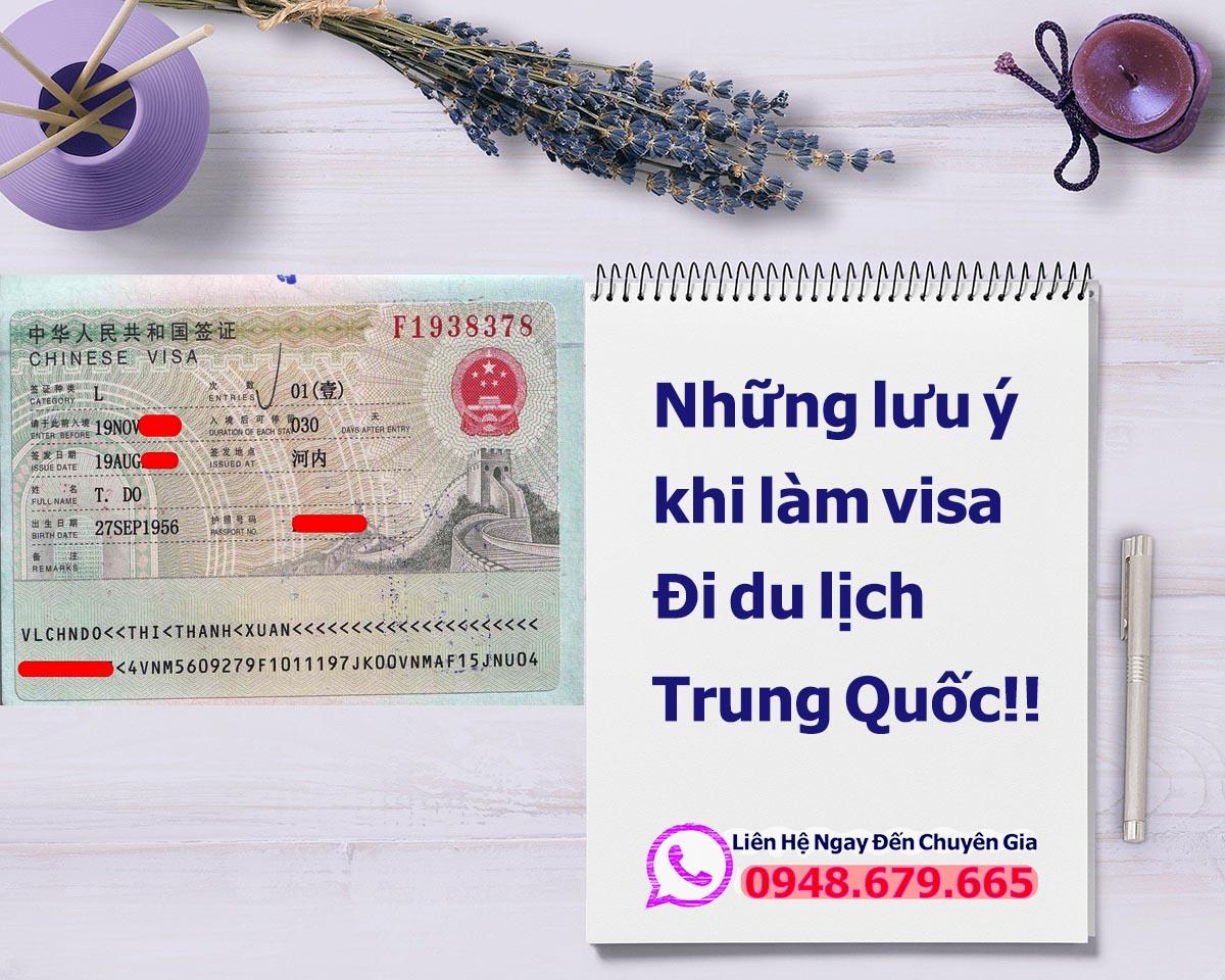 Lưu ý khi làm visa Trung Quốc